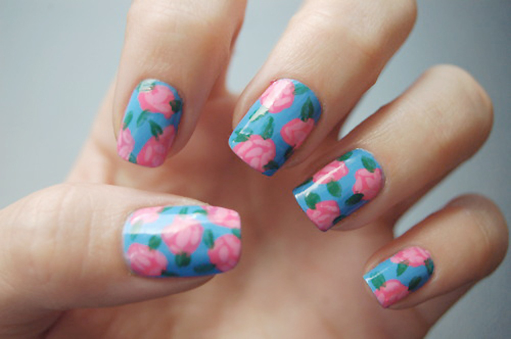 Abstract Floral Nail Stickers