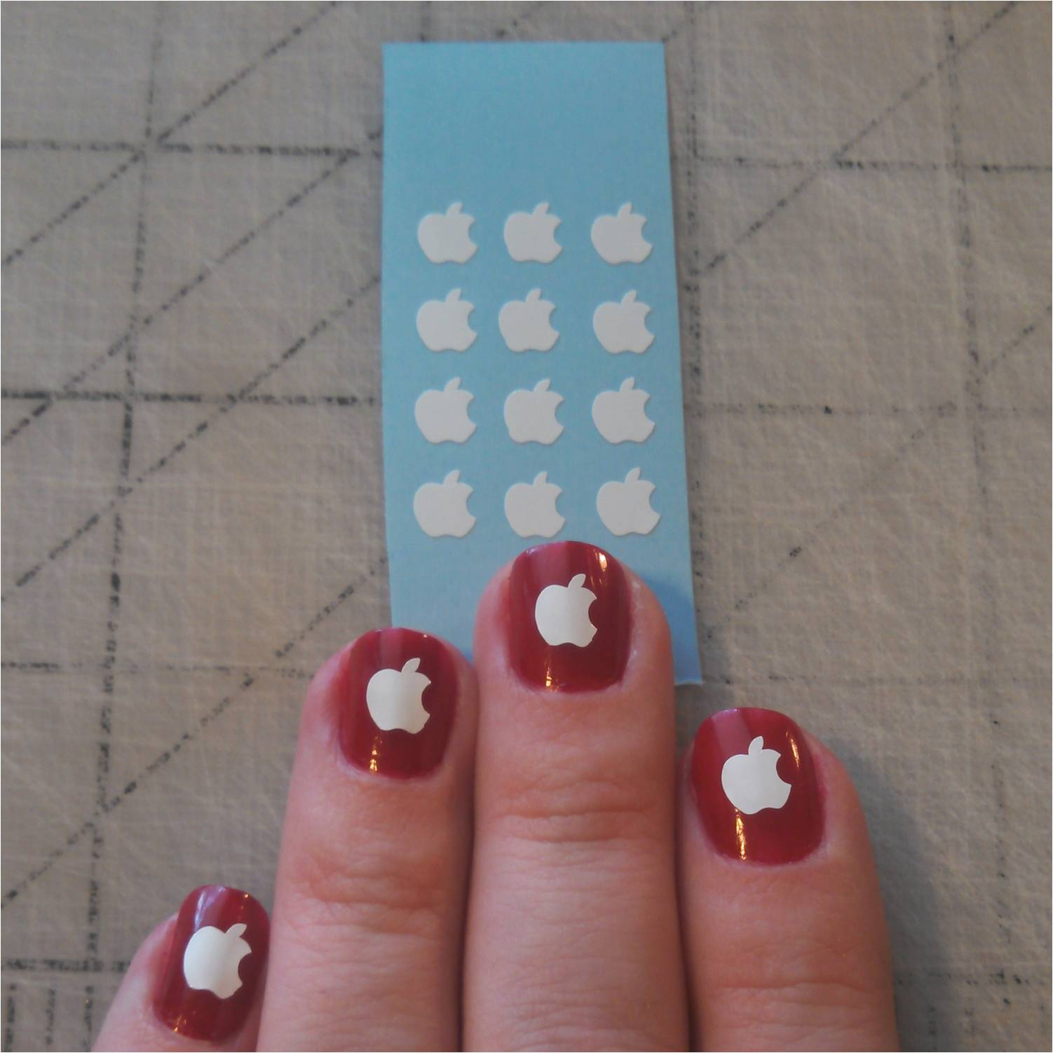 Apple iPhone Love Nail Stickers