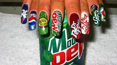 Awesome Soda Inspired Nail Theme