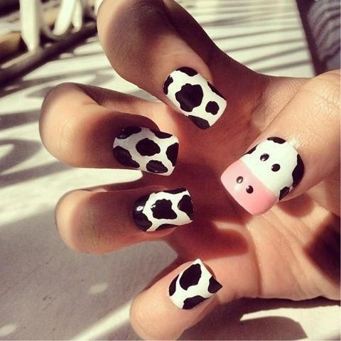 Cool Summer Cow Print