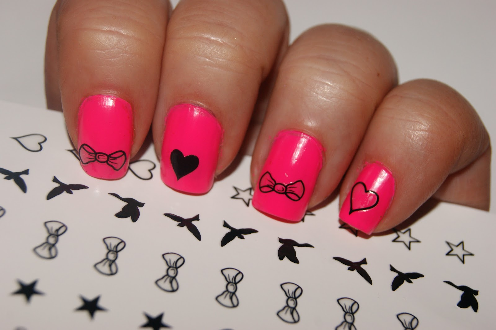 Cute Pink with Hearts and Bow