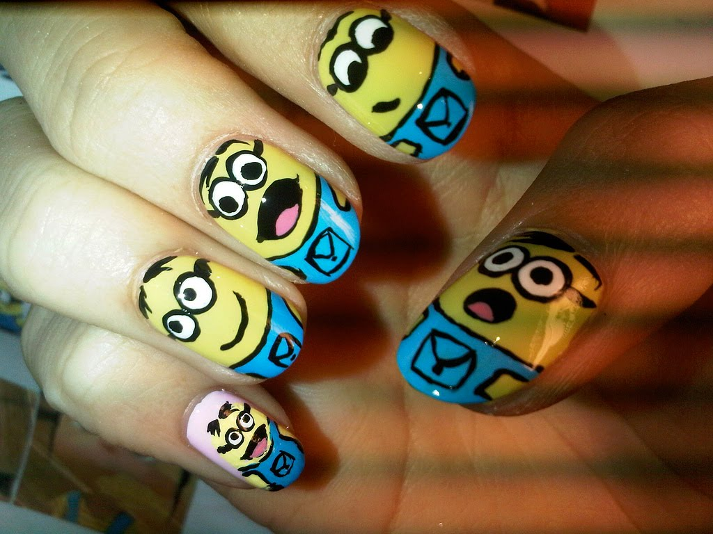 Exaggerate your Nails with Cute Faces
