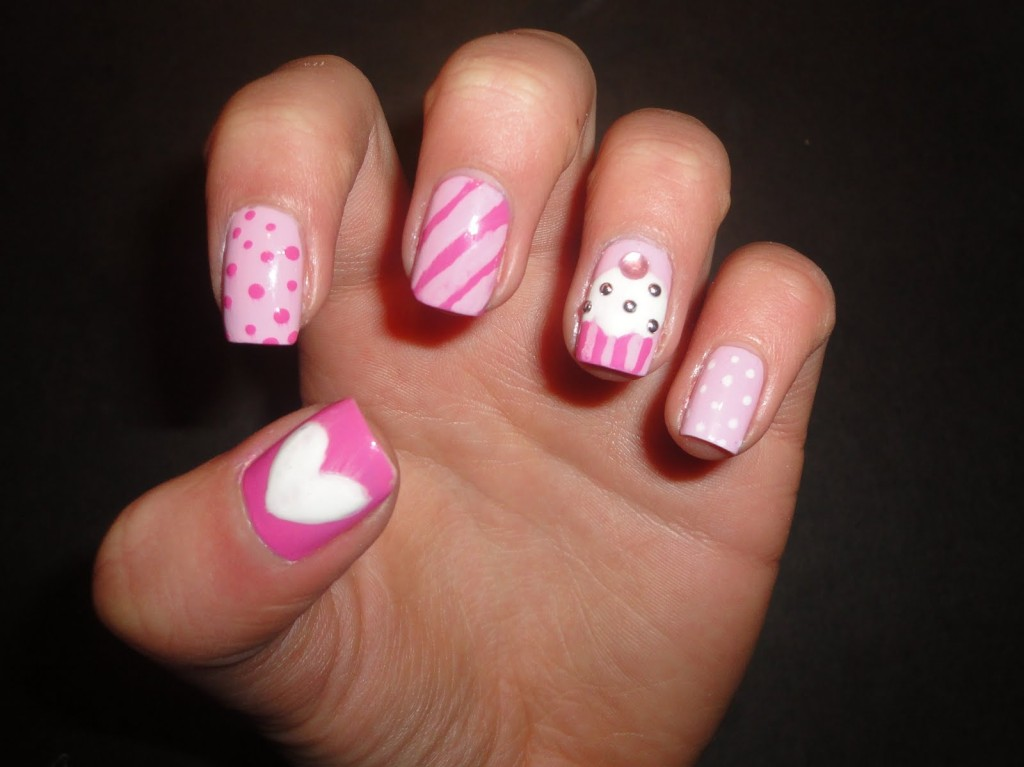 Heart Stripes and Polka Dots