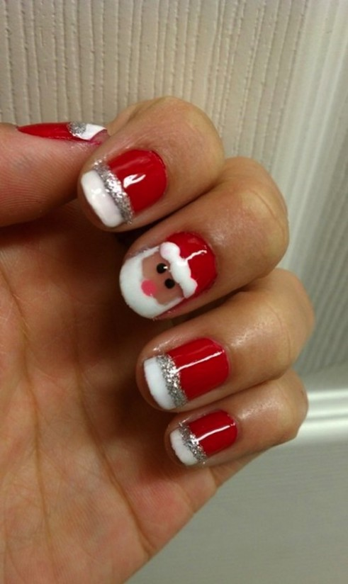 Let Santa Smile over your Nails
