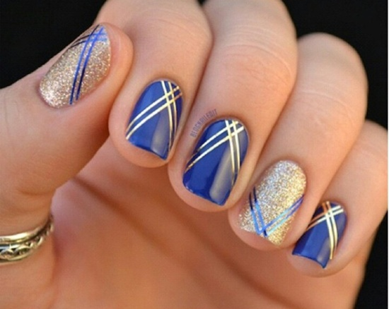 Metallic Stripes with Ravishing Golden