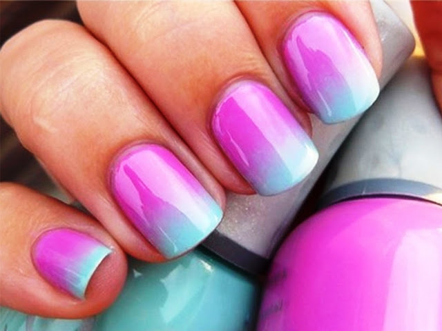 Ombre Pink and Light Blue