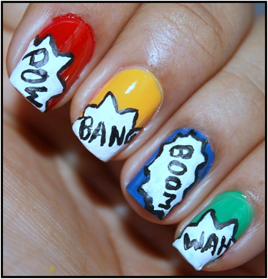 Pop Culture Nail Design with a BANG