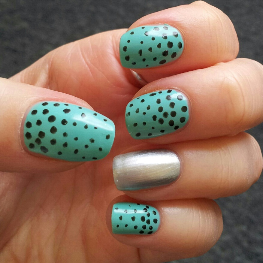 Simple and Sweet Turquoise with Silver Touch