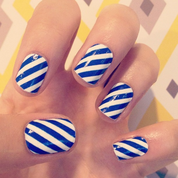 Simple Blue and White Stripes