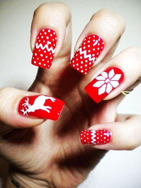 Simple Red and White Winter Design