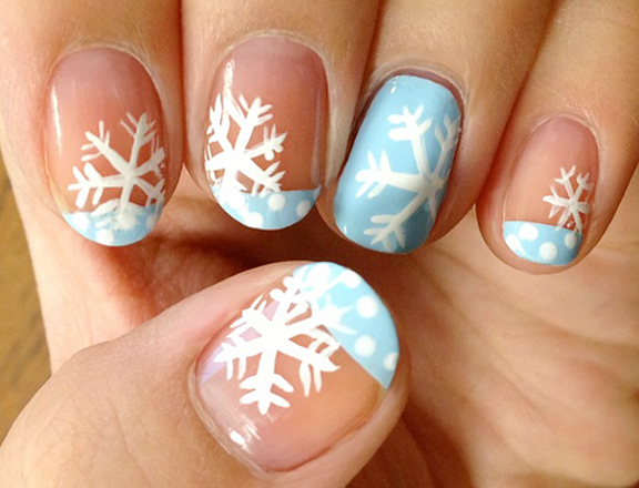 Snowflakes on your Finger Nails