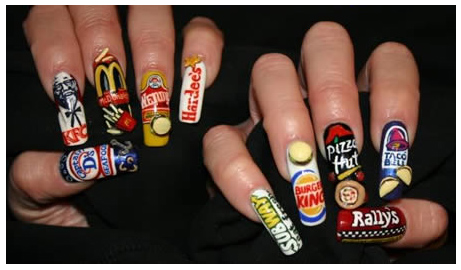 Trendy Fast Food Nails